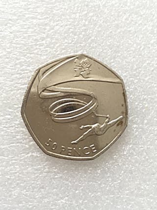 50p coin gymnastics London Olympic Games 2011.
