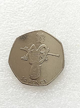 50p coin athletics London Olympic Games 2011.
