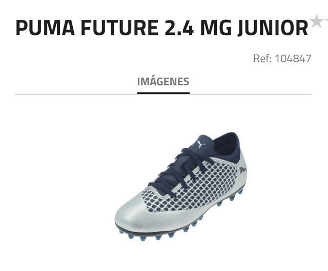 Bota fútbol PUMA FUTURE 2.4 MG JUNIOR ( Nuevas)