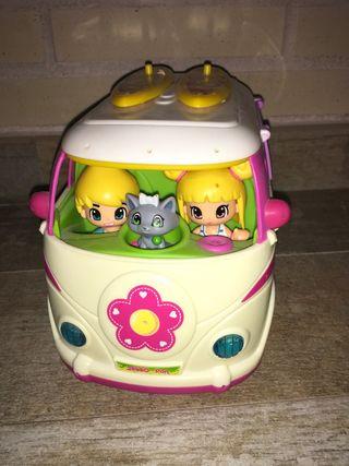 Caravana Pin Y Pon + mini casa
