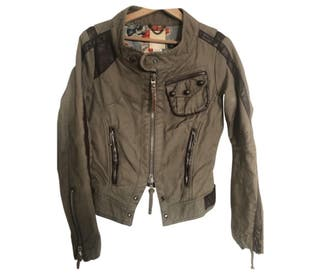 Diesel Cotton Jacket with Leather Details