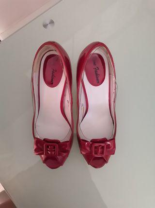 Zapatos tacón rojos, 37