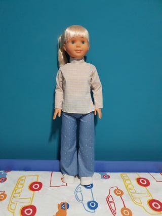 muñeca grande 80cm