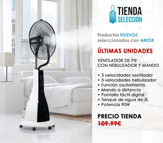 Ventilador de Pie con Nebulizador vapor aire NUEVO