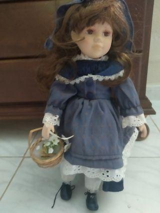 Lote 3 muñecas porcelana