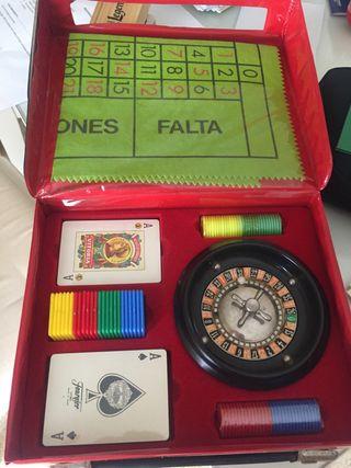 Juego de ruleta y cartas sin estrenar