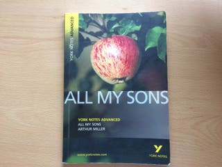 All my Sons York Notes Advanced 9781405861809