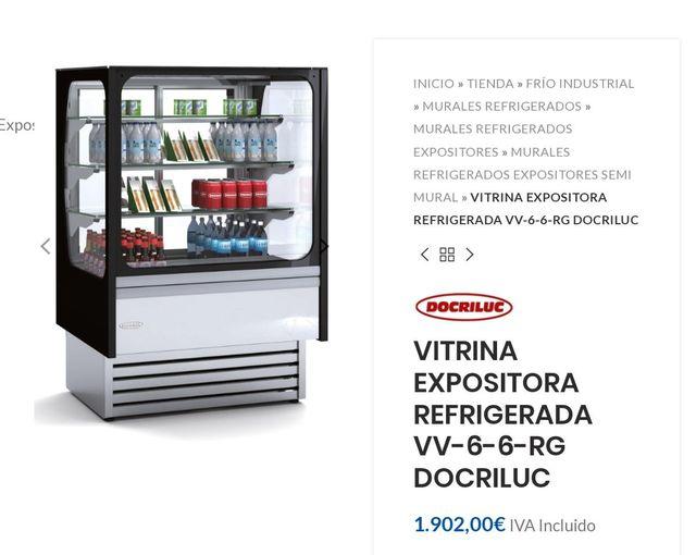 VITRINA REFRIGERADA PARA PASTELERÍA