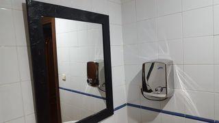 Espejo y secamanos
