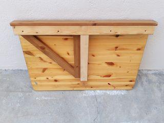 Mesa abatible de pared madera de pino.
