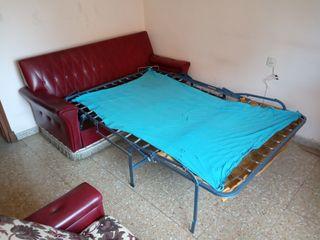 sofá-cama vintage años 80