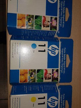 pack colores cartuchos HP No. 11