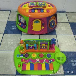 Piano musical y cajón de actividades (los dos)