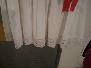 Faldriquera enagua blanca bolsillo para traje flam