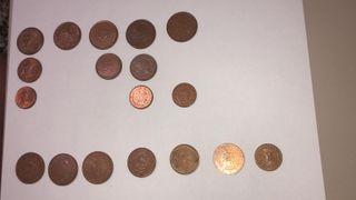 Cambio monedas de 50 a 1 céntimos de siete países