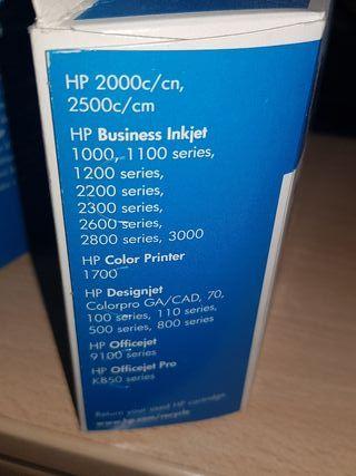cartucho HP No. 10 negro Pack de 3