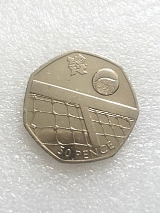 50p coin tennis London Olympic Games 2011.