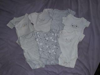 lote de bodys de bebé 1 mes