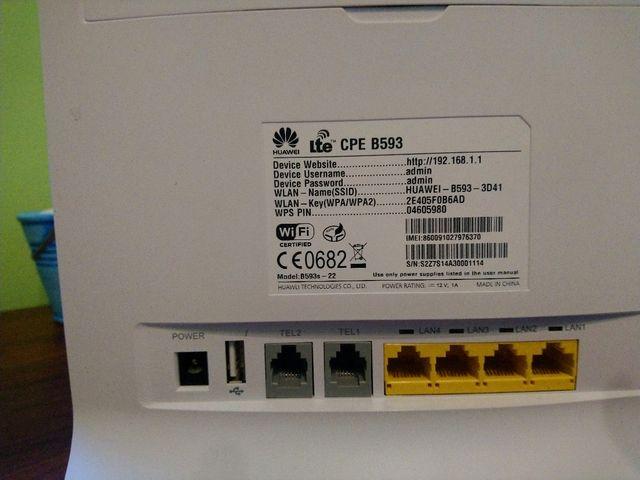 Router 4g Huawei B593 de segunda mano por 29 € en El Puerto de Santa