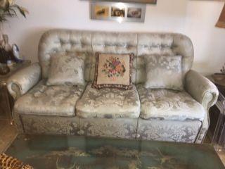 Sofá antiguo 3 plazas y 2 sillones abatibles