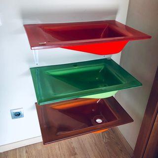 Lavabo cristal 60x39cm diferentes colores