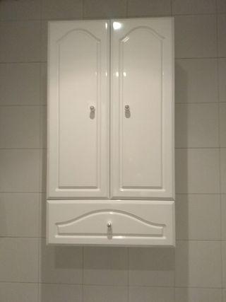armario de baño. lacado blanco.