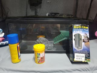 Pecera tortuguera terrario