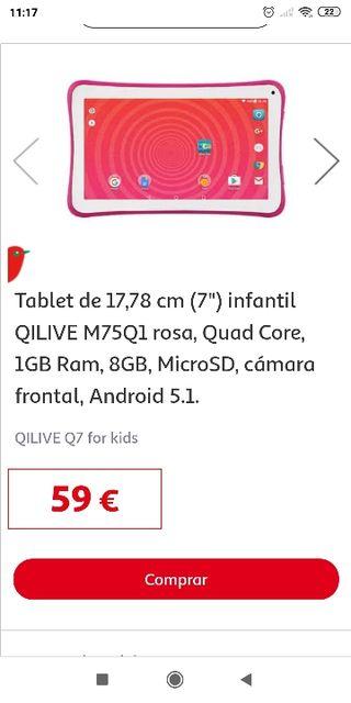 Tablet qilive rosa nueva