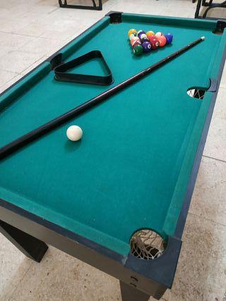 billar, ping pong, futboliin