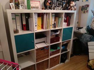 estantería Kallax de Ikea blanca lacada