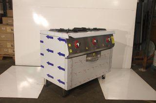 Cocina 2 fuegos con gran horno gas
