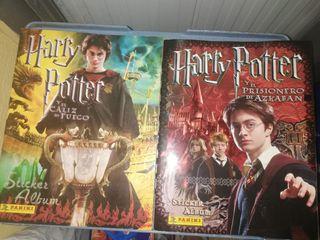 Dos album de cromos de Harry Potter incompletos