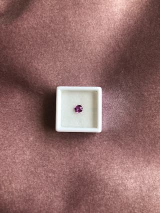 Zafiro rosa natural sin tratar