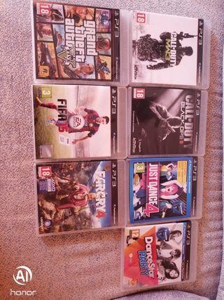 lote 7 juegos ps3