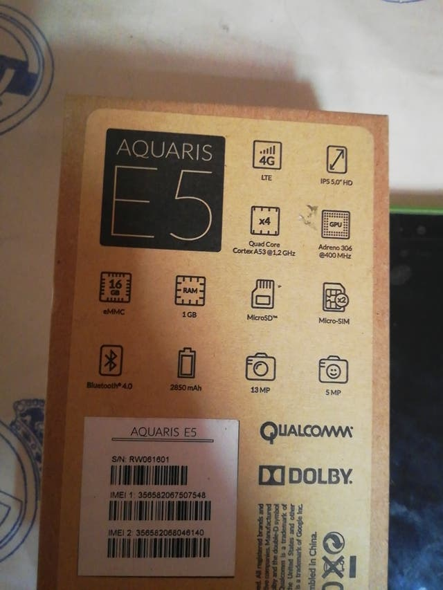 bq aquaris e5