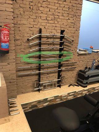 Soporte para barras del gym
