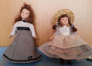 Muñecas de porcelana. Pareja. Años 2000. Alemanas