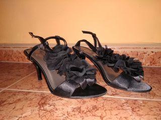 Sandalias negras, talla 38