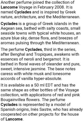 RRP$100 Lancôme Cyclades Collection Voyage EDT
