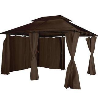 Cenador con cortinas 3x4m jardín
