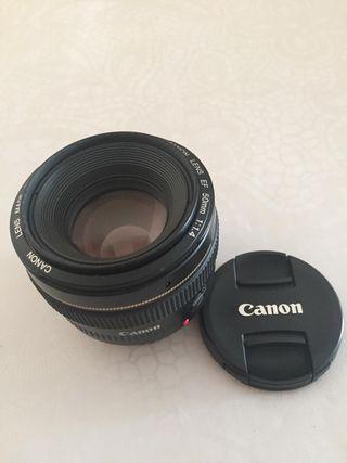 Objetivo Canon 50 mm 1,4