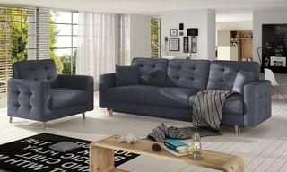 Conjunto de sofá cama más sillón - Copenhagen