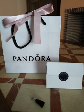 PANDORA Charm borla negra