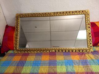 Espejo Salón 75x135 cm con marco dorado