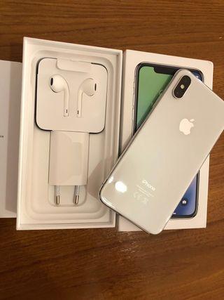IPHONE X Silver + Garantia