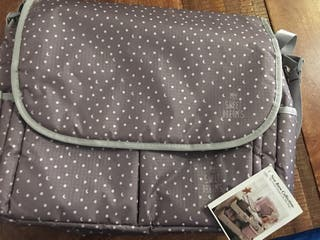 Bolsa maternidad o para carrito mini stars gris
