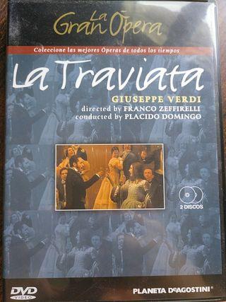 la gran ópera, la traviata Giuseppe Verdi 2 DVDs