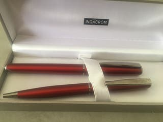 Inoxcrom. Pluma y bolígrafo