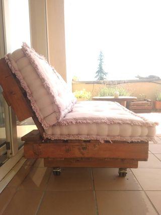 Sofá exterior de palets