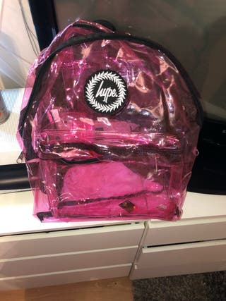 Pink clear hype bag